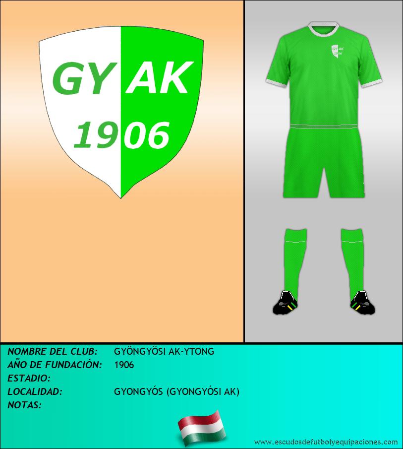 Escudo de GYÖNGYÖSI AK-YTONG