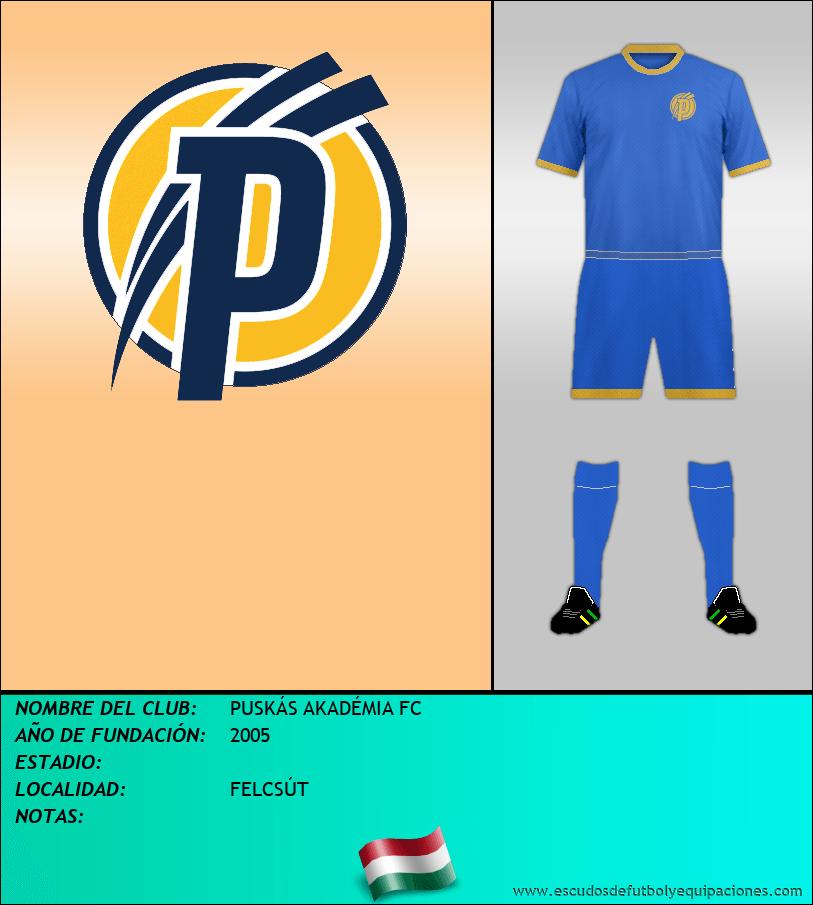 Escudo de PUSKÁS AKADÉMIA FC