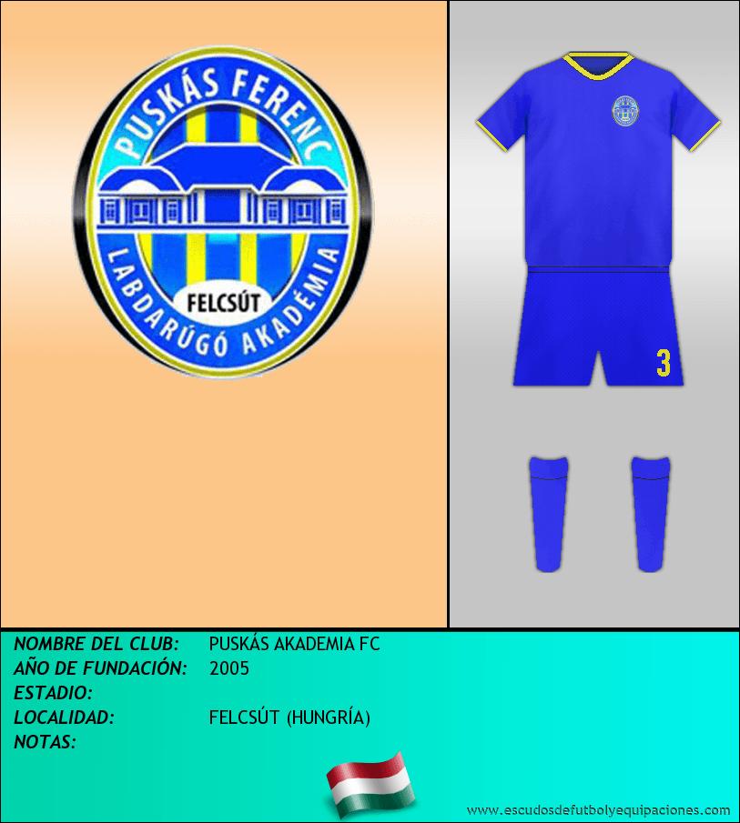 Escudo de PUSKÁS AKADEMIA FC
