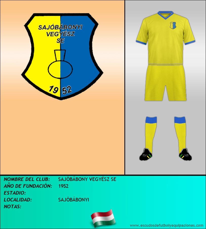 Escudo de SAJÓBÁBONY VEGYÉSZ SE