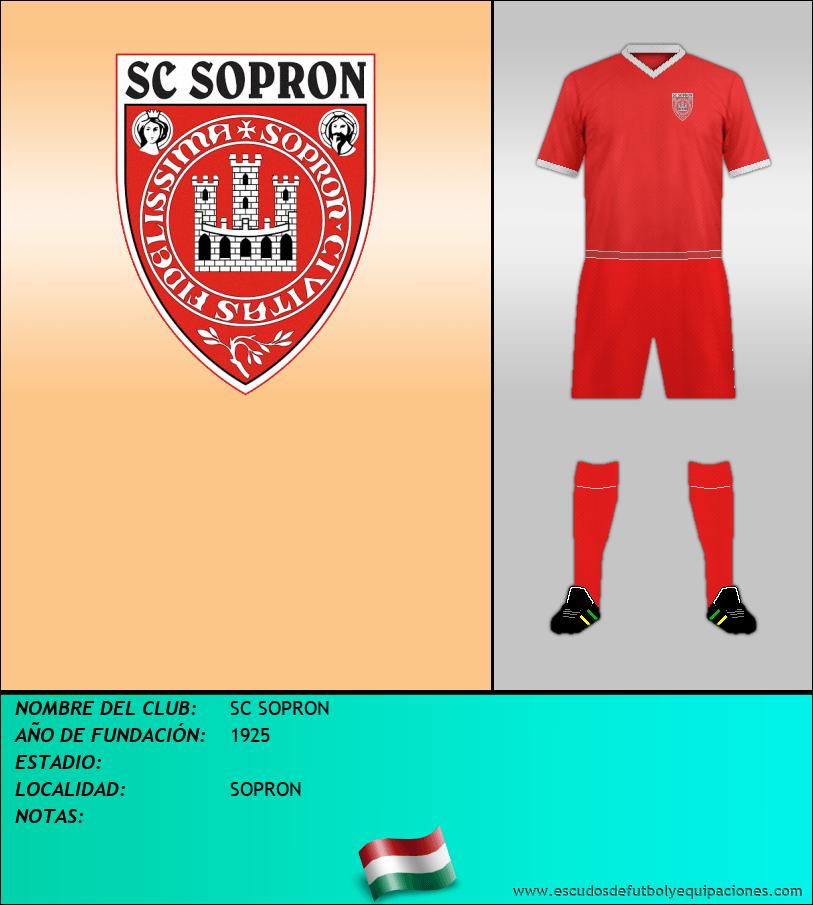 Escudo de SC SOPRON