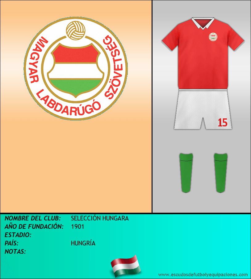 Escudo de SELECCIÓN HUNGARA