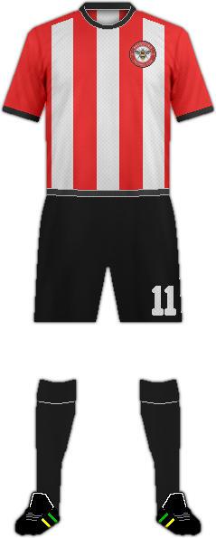 Equipación BRENTFORD F.C.