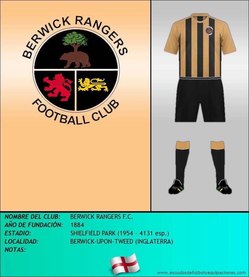 Escudo de BERWICK RANGERS F.C.
