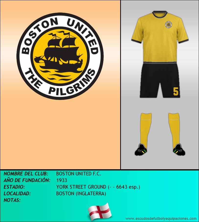 Escudo de BOSTON UNITED F.C.