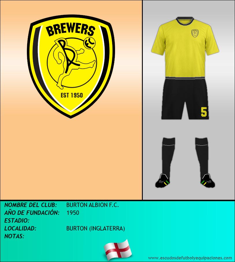 Escudo de BURTON ALBION F.C.