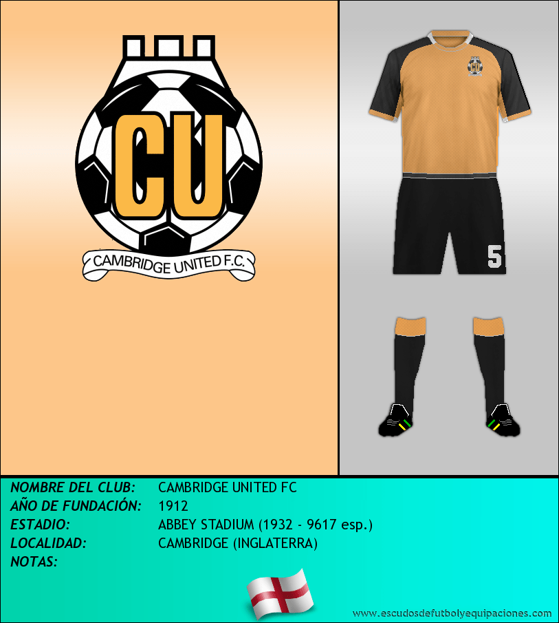 Escudo de CAMBRIDGE UNITED FC