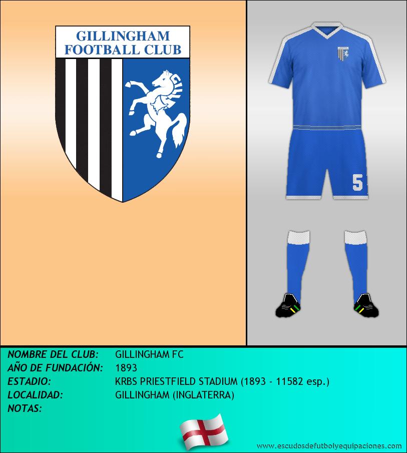 Escudo de GILLINGHAM FC