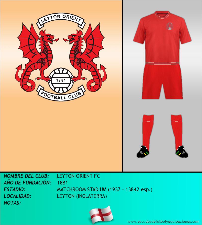 Escudo de LEYTON ORIENT FC