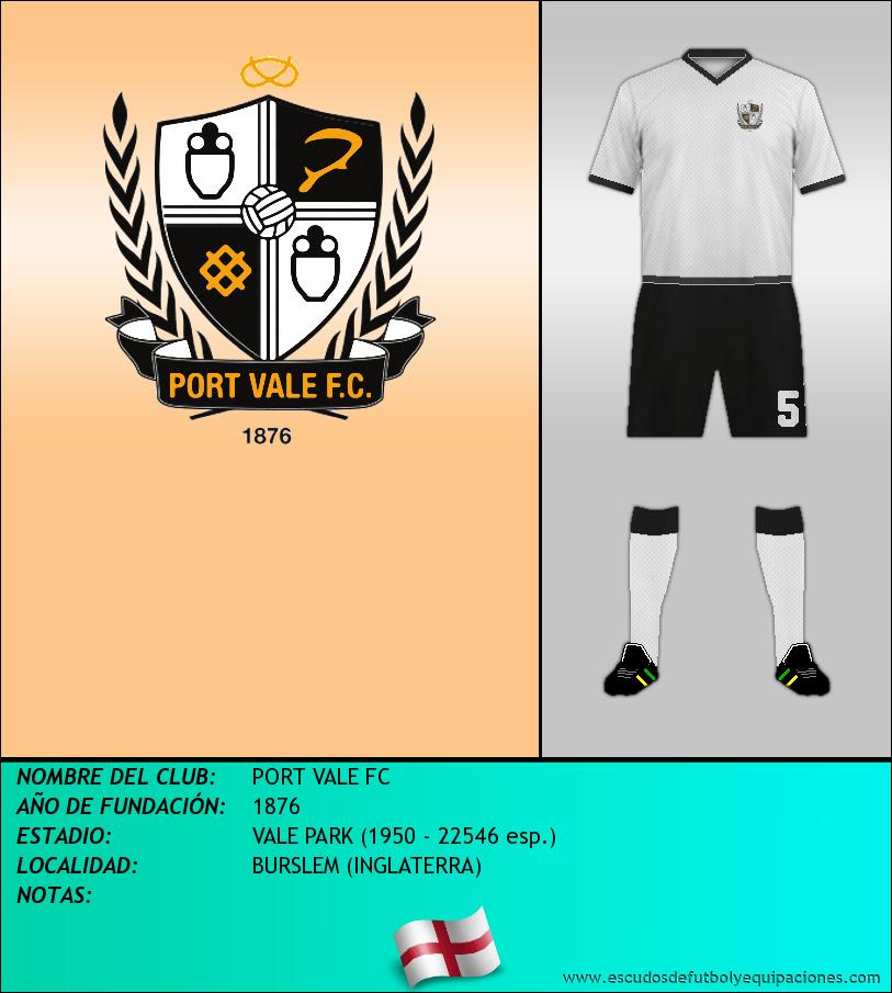 Escudo de PORT VALE FC
