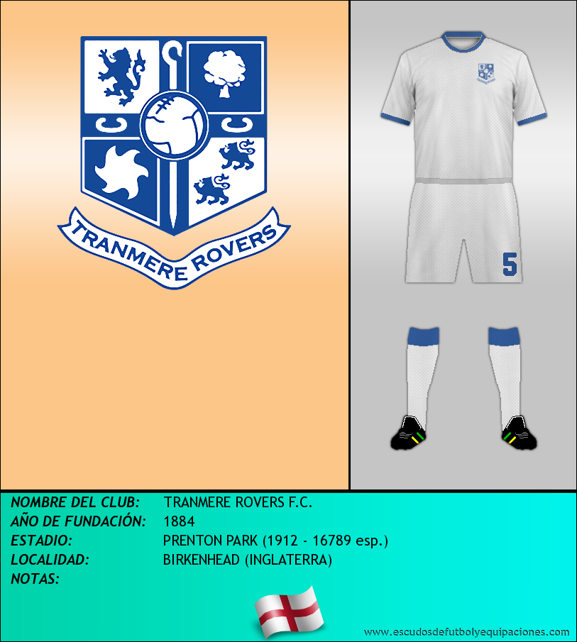 Escudo de TRANMERE ROVERS F.C.