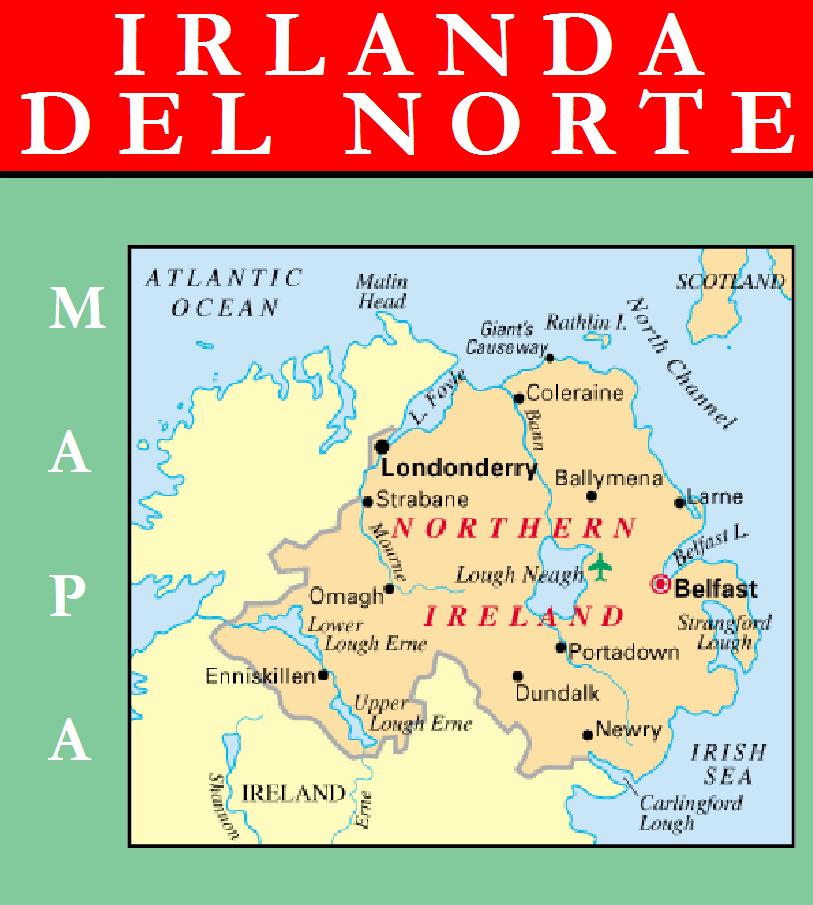 Escudo de MAPA DE IRLANDA DEL NORTE