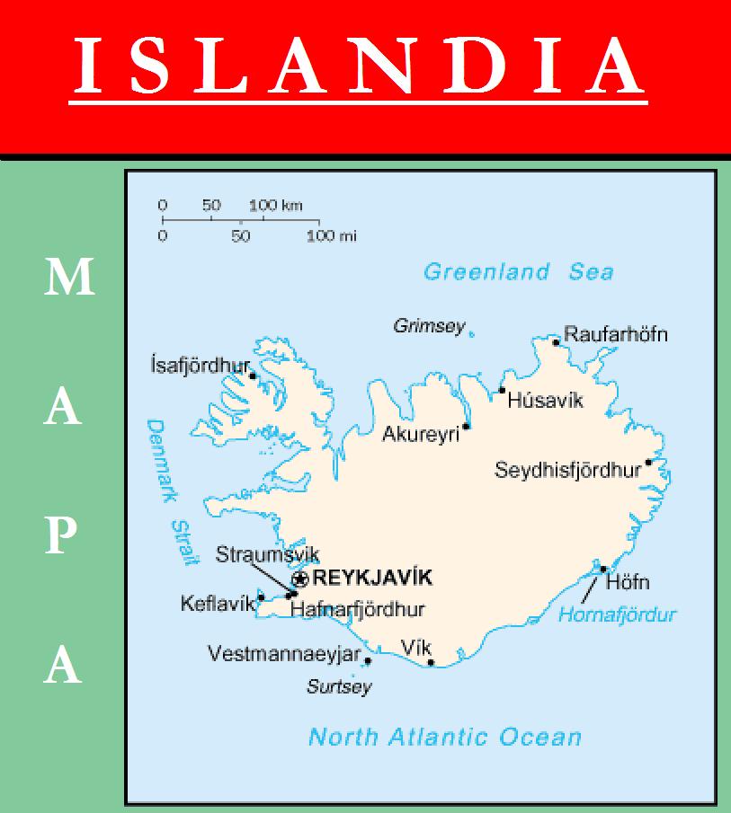 Escudo de MAPA DE ISLANDIA