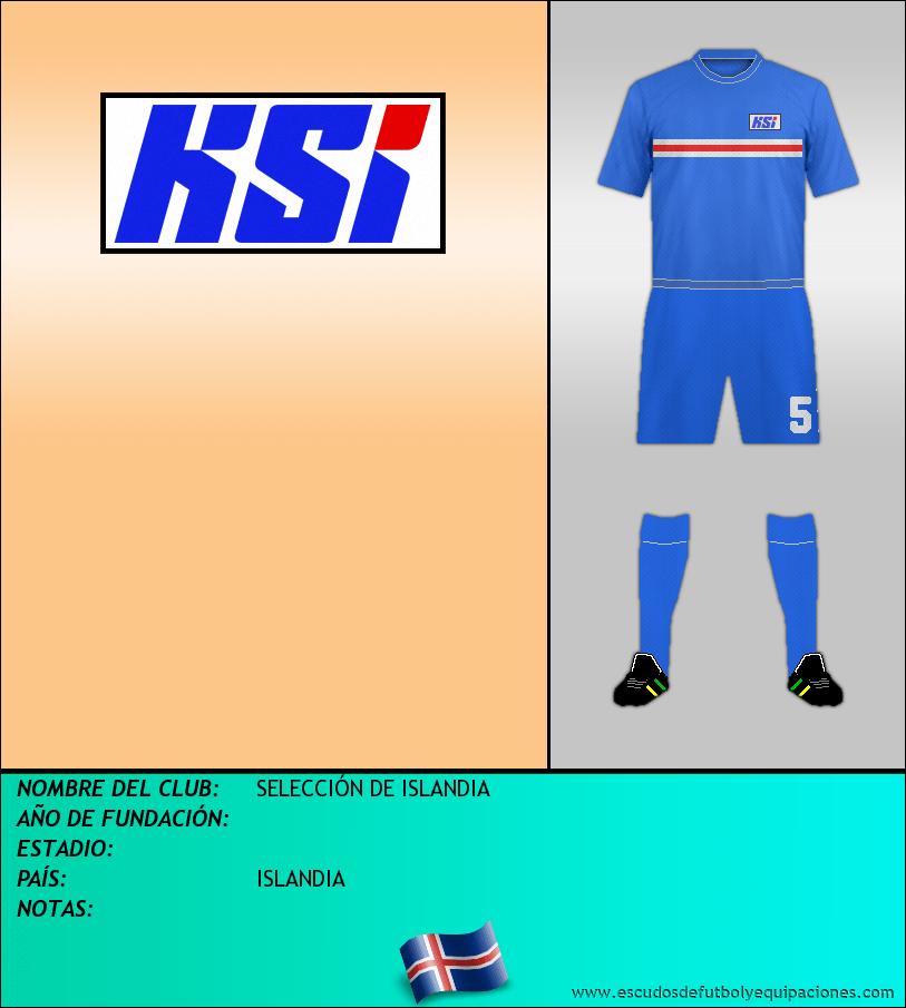 Escudo de SELECCIÓN DE ISLANDIA