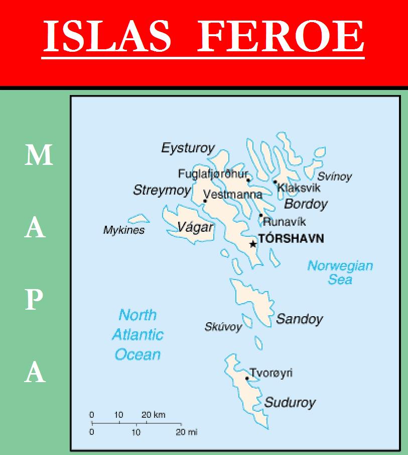 Escudo de MAPA DE ISLAS FEROE