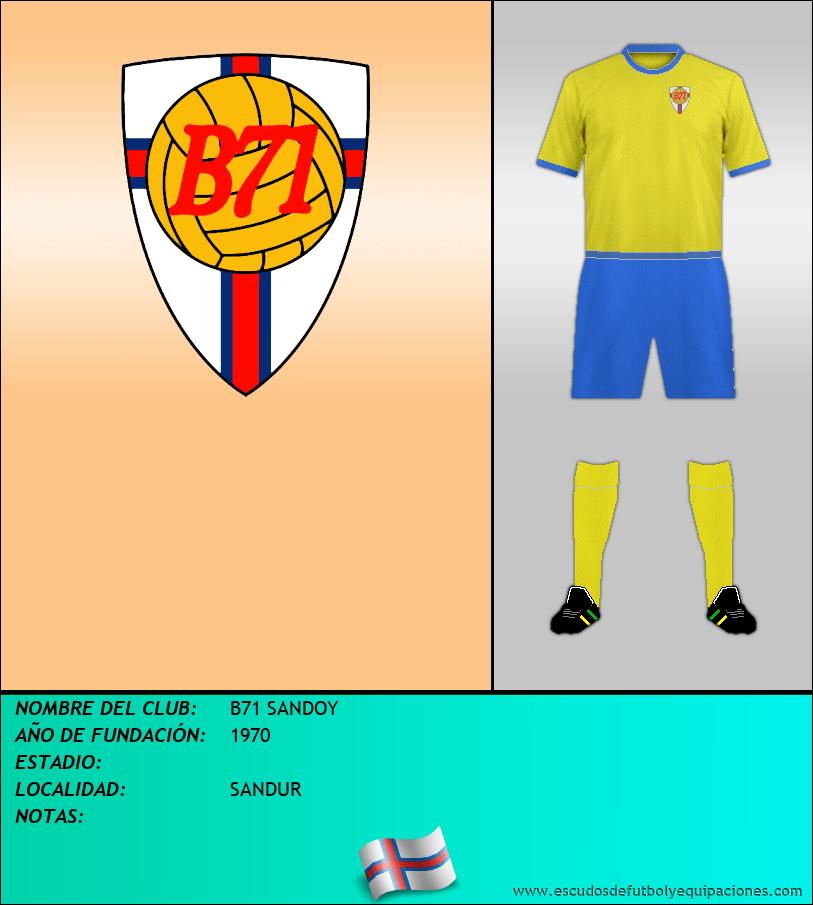 Escudo de B71 SANDOY
