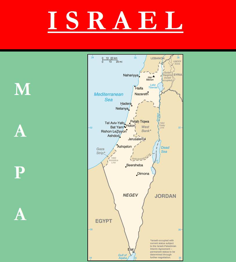 Escudo de MAPA DE ISRAEL