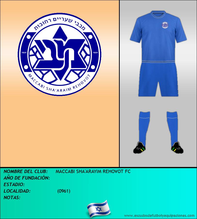 Escudo de MACCABI SHA'ARAYIM REHOVOT FC