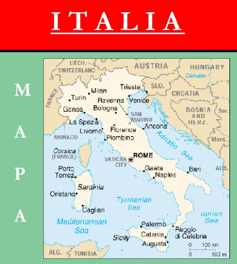 Escudo de MAPA DE ITALIA