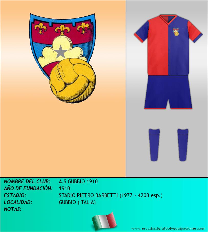 Escudo de A.S GUBBIO 1910