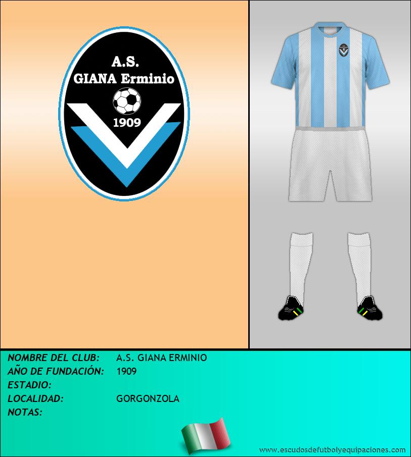Escudo de A.S. GIANA ERMINIO