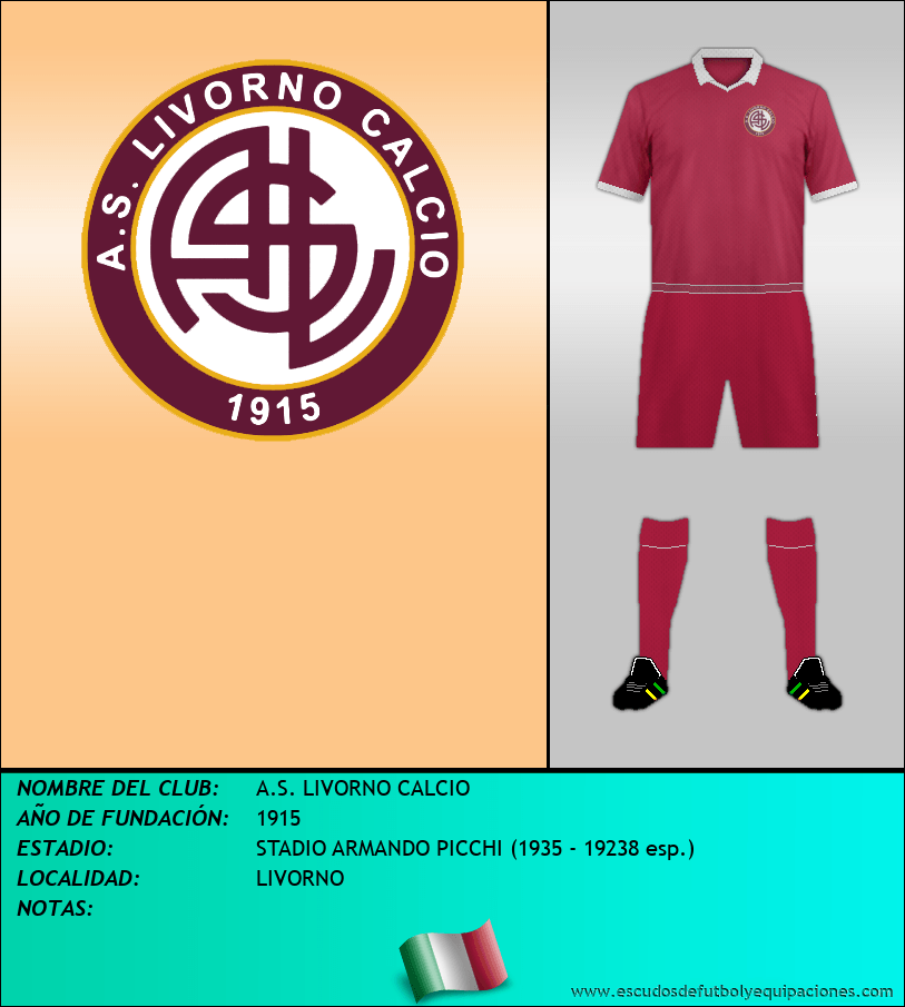 Escudo de A.S. LIVORNO CALCIO