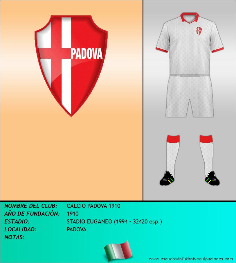 Escudo de CALCIO PADOVA 1910