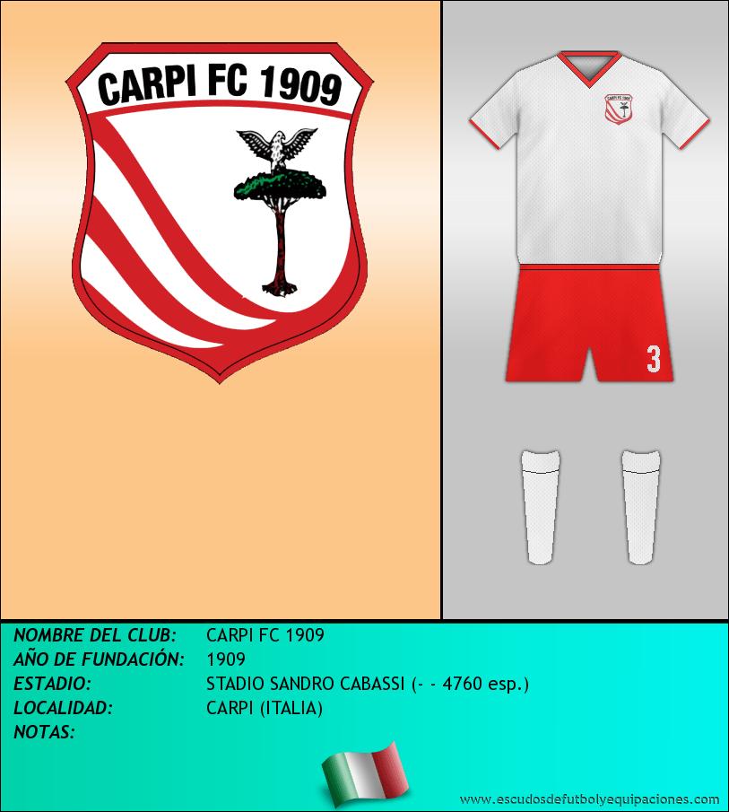 Escudo de CARPI FC 1909