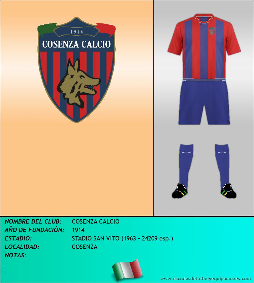 Escudo de COSENZA CALCIO