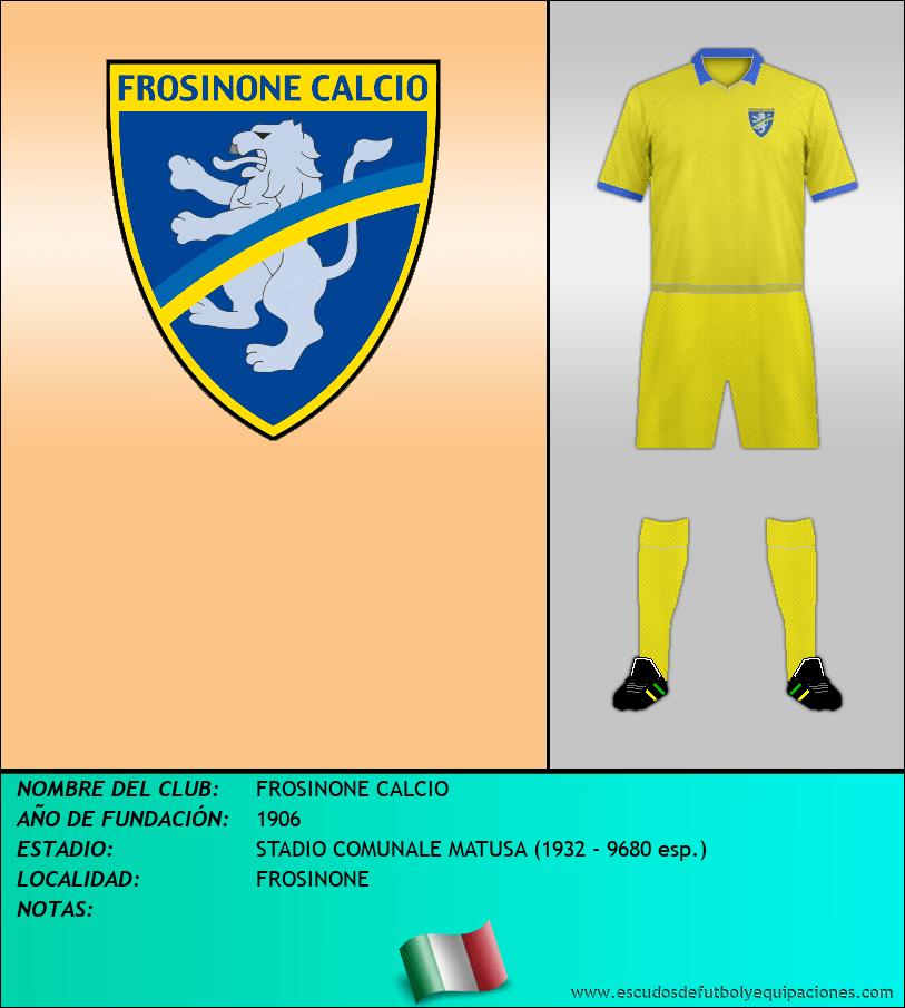 Escudo de FROSINONE CALCIO