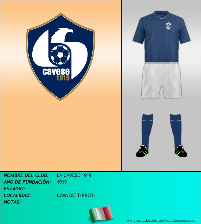 Escudo de LA CAVESE 1919