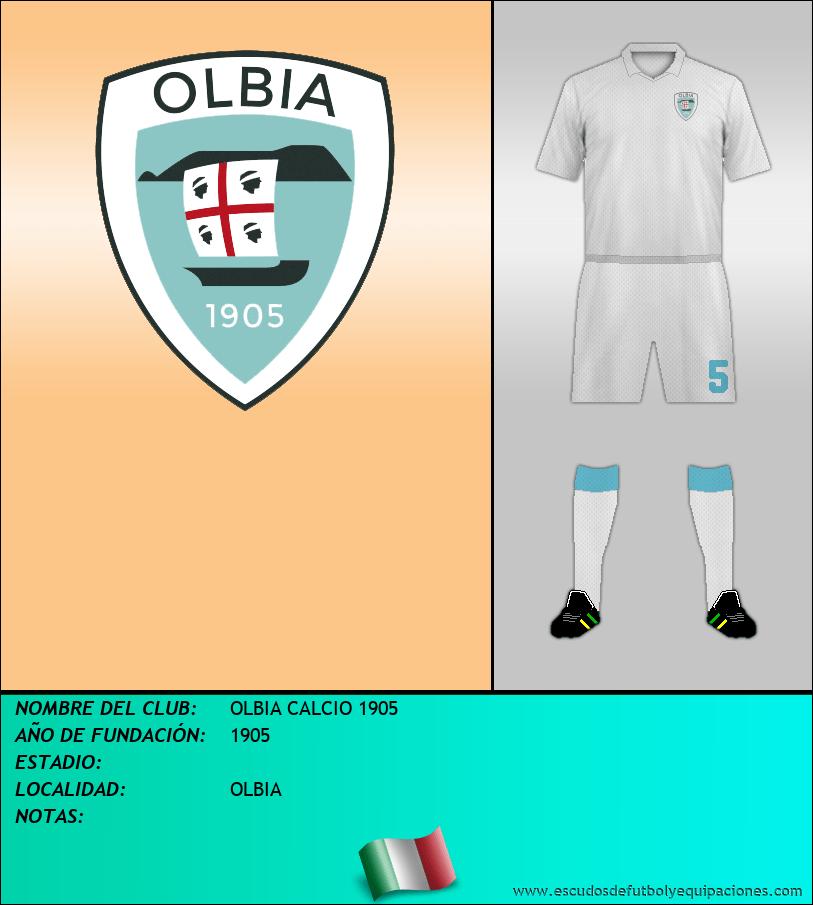 Escudo de OLBIA CALCIO 1905