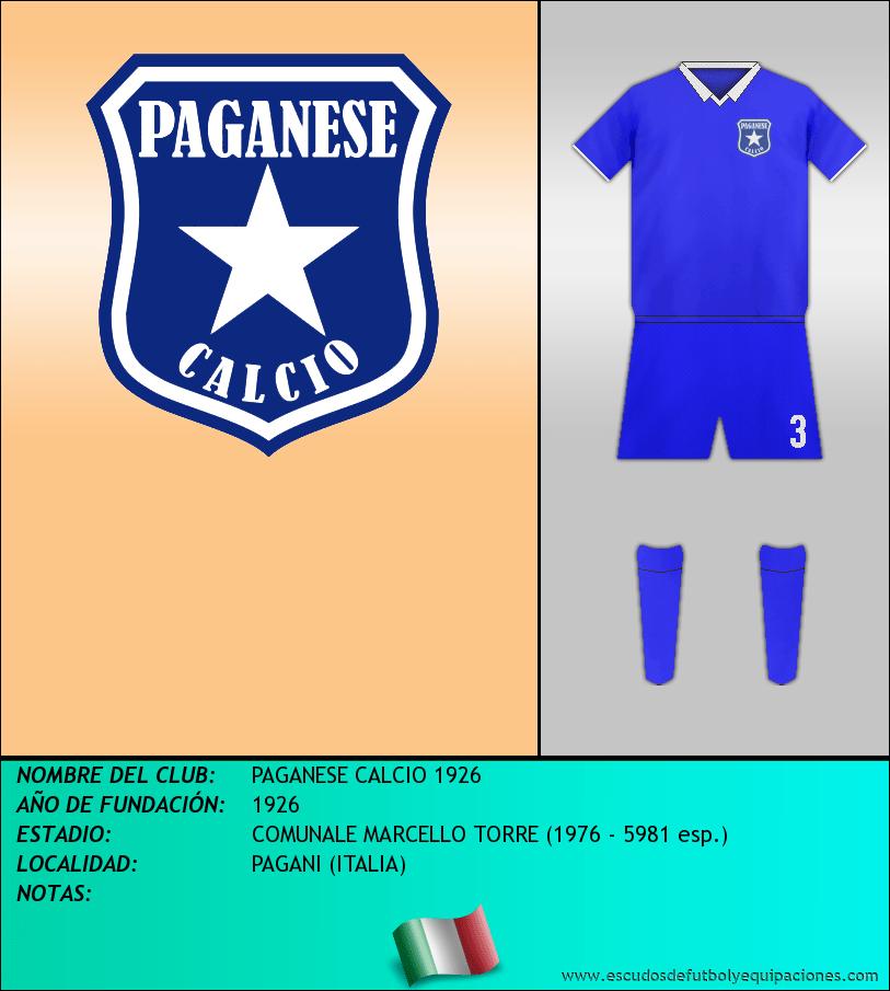 Escudo de PAGANESE CALCIO 1926