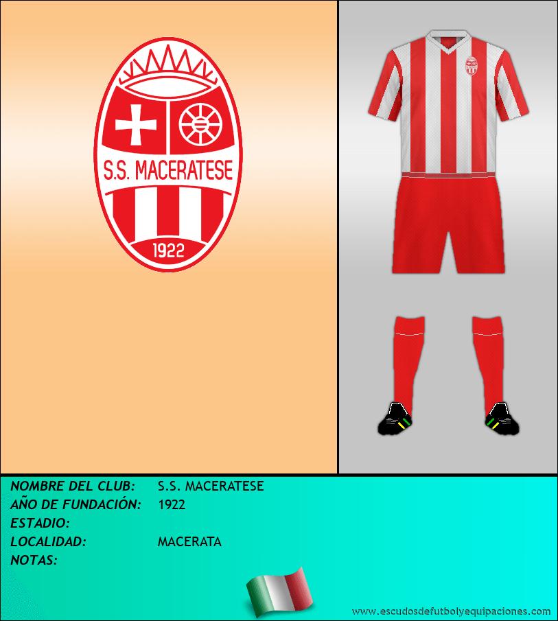 Escudo de S.S. MACERATESE