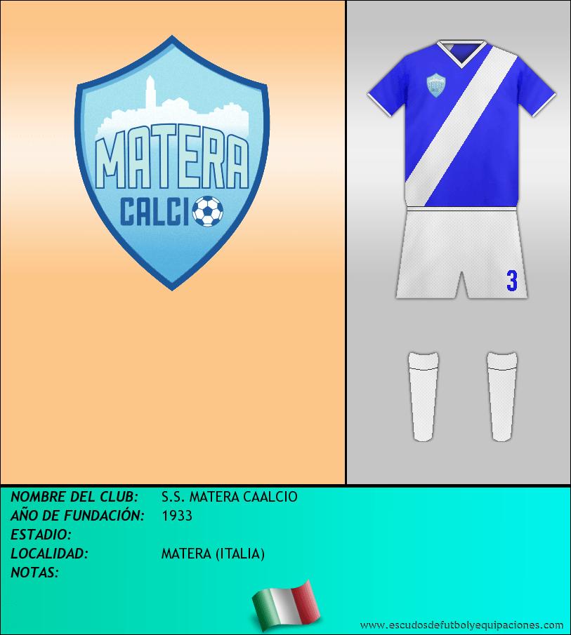 Escudo de S.S. MATERA CAALCIO