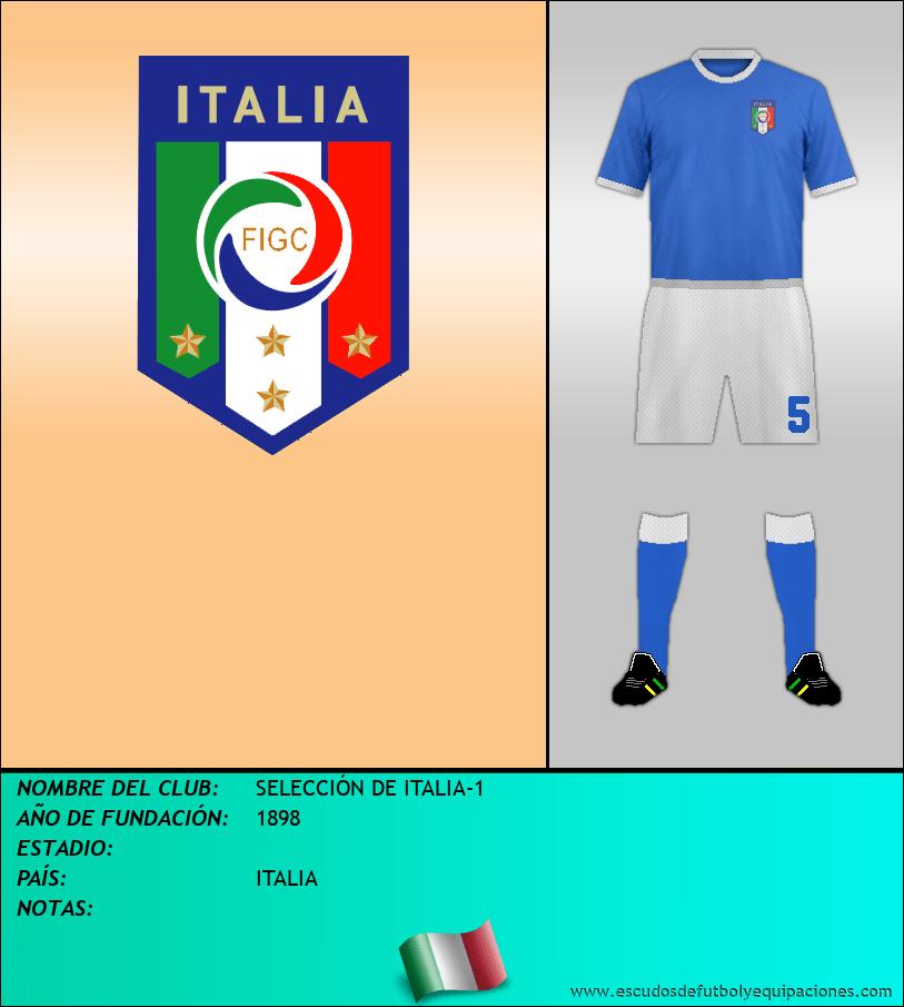 Escudo de SELECCIÓN DE ITALIA-1