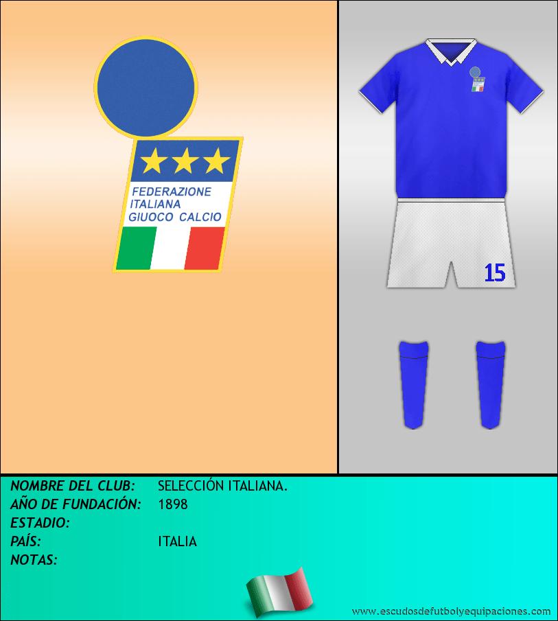 Escudo de SELECCIÓN ITALIANA.