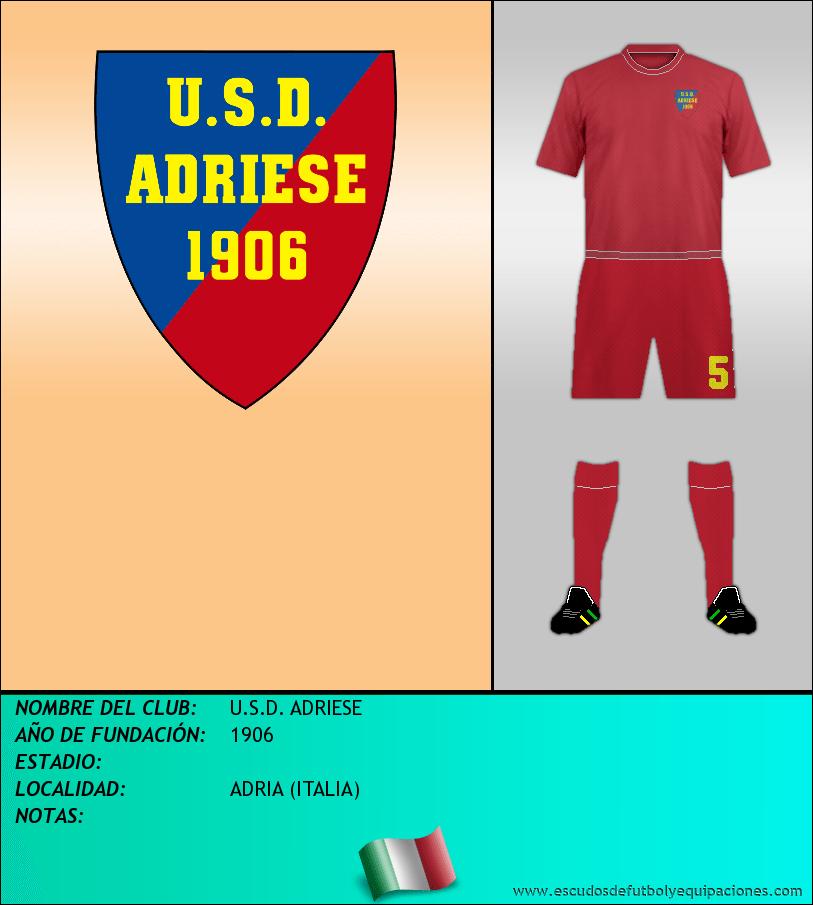 Escudo de U.S.D. ADRIESE
