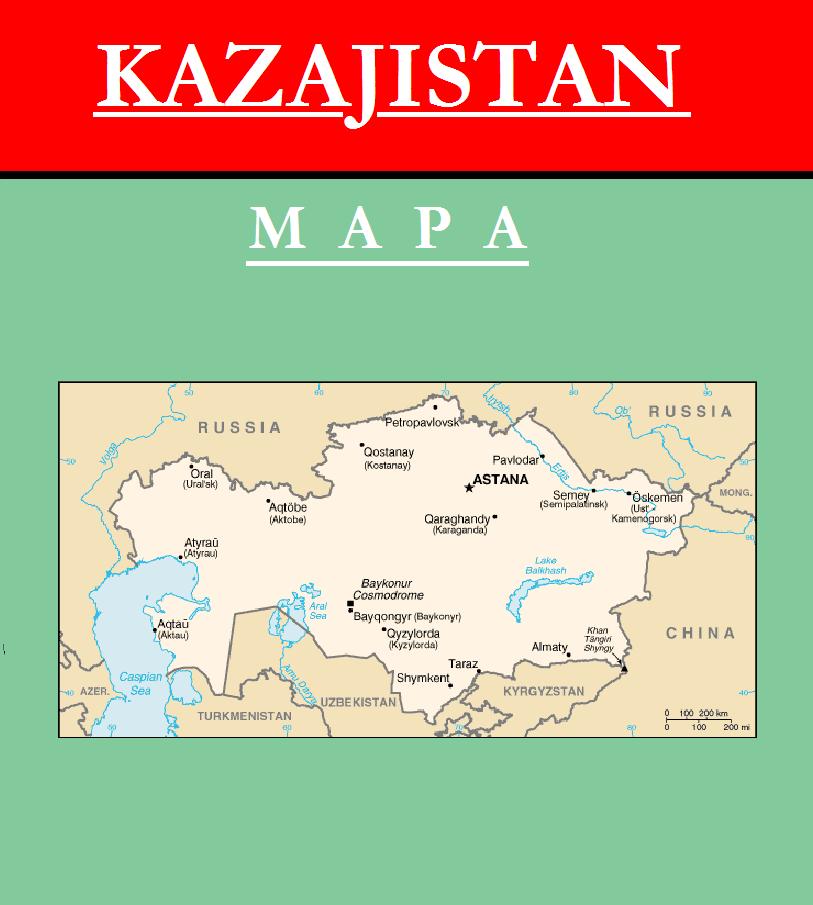 Escudo de MAPA DE KAZAJISTÁN