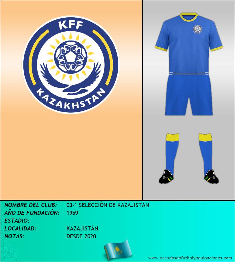 Escudo de 03-1 SELECCIÓN DE KAZAJISTÁN