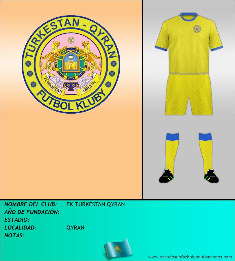 Escudo de FK TURKESTAN QYRAN