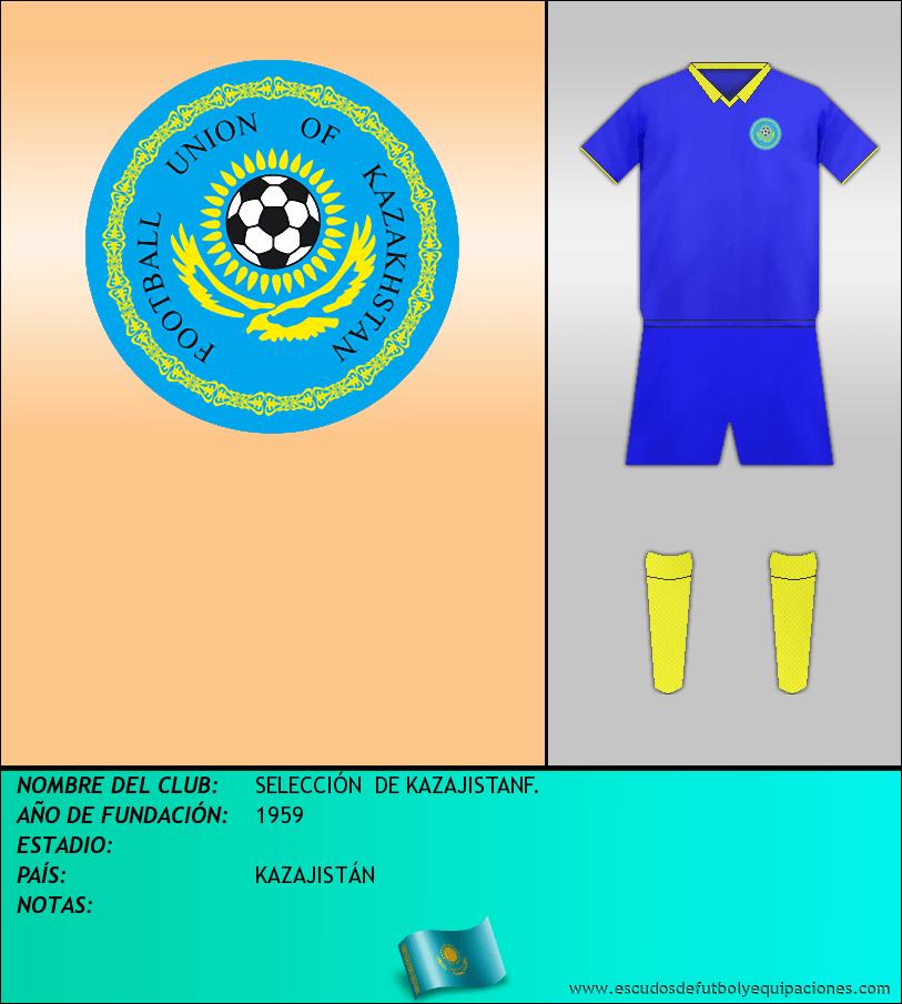 Escudo de SELECCIÓN  DE KAZAJISTANF.