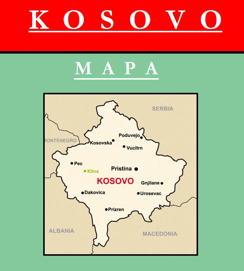 Escudo de MAPA DE KOSOVO