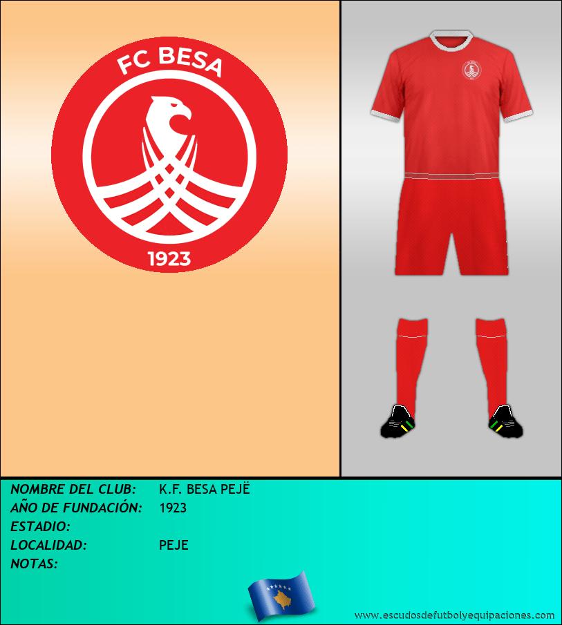 Escudo de K.F. BESA PEJË