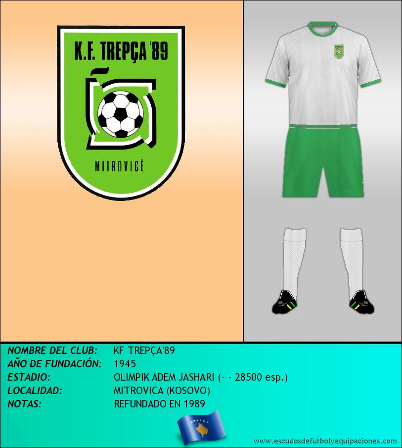 Escudo de KF TREPÇA'89