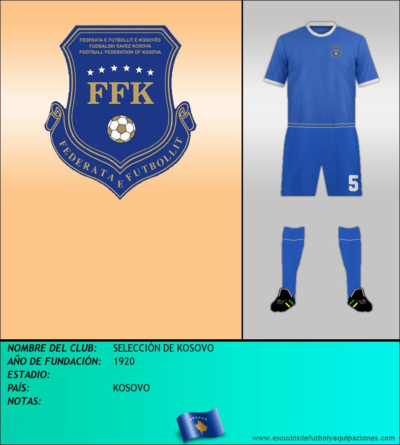 Escudo de SELECCIÓN DE KOSOVO