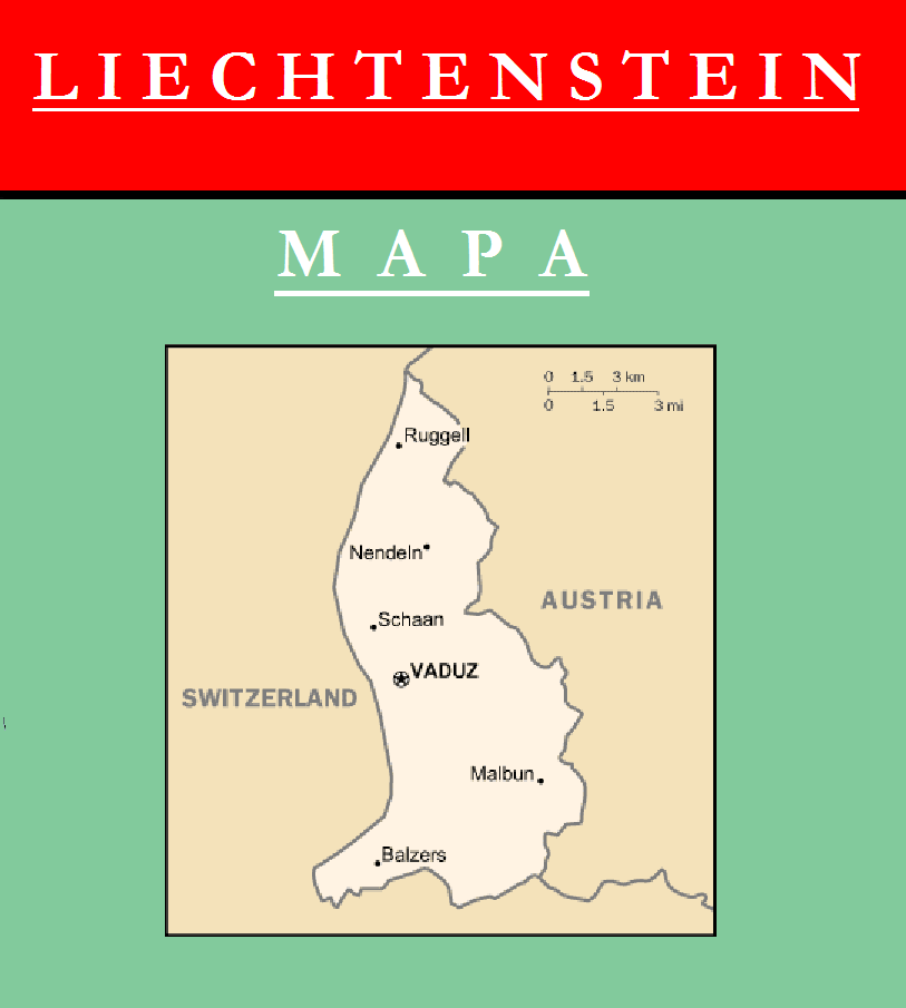 Escudo de MAPA DE LIECHTENSTEIN