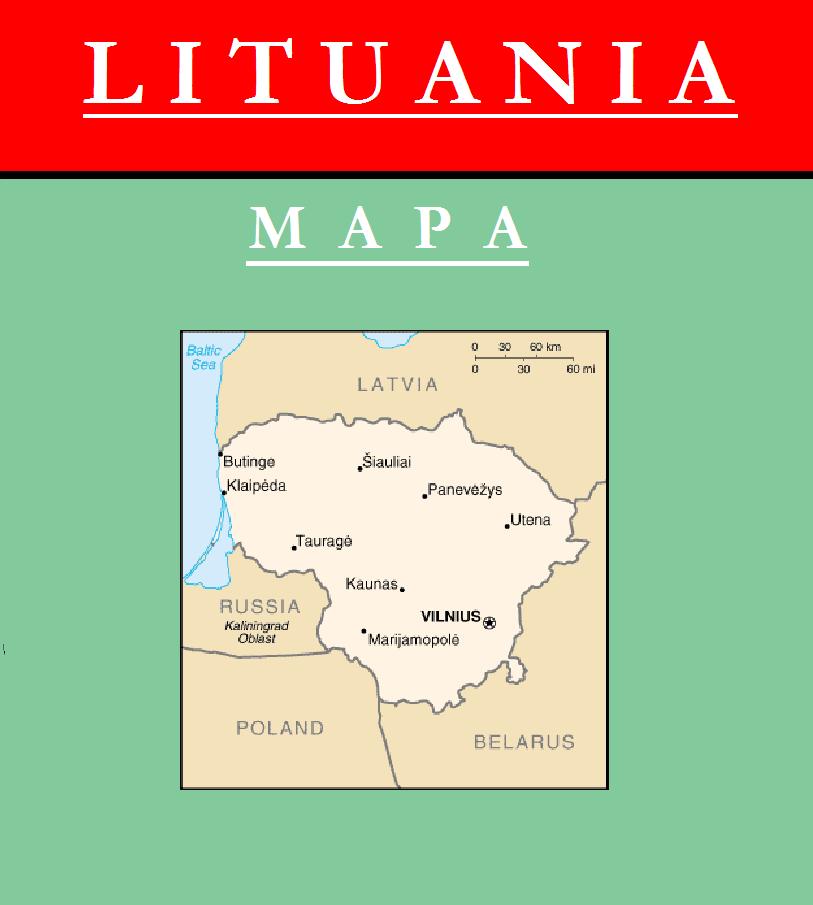 Escudo de MAPA DE LITUANIA