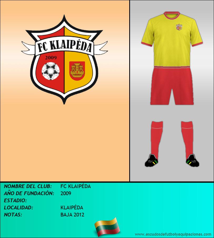 Escudo de FC KLAIPÉDA