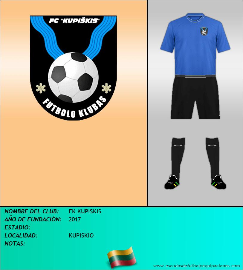 Escudo de FK KUPISKIS